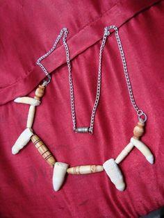 Alligator teeth and bone jewelry set. $25.99