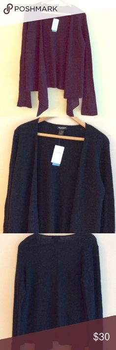 NWT Black Cashmere Wrap Lovely Black Cashmere Wrap New With Tags. Philosophy Sweaters Shrugs & Ponchos