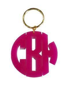 Acrylic Monogram Key Chain in Block Font $34