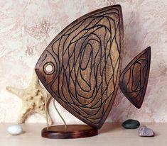 Декоративная скульптура из дерева, рыба. Берёза. Работа Евгения Вагнера. Wood Carving Art, Wood Art, Record Crafts, Wood Fish, Wooden Ornaments, Fish Art, Scroll Saw, Pattern, Mauritius
