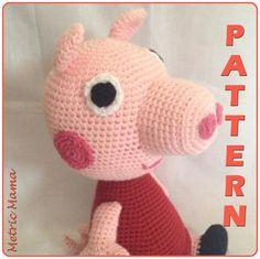 Peppa Pig 14 Amigurumi Crochet Plushie by MetricMama on Etsy Plushie Patterns, Crochet Amigurumi Free Patterns, Crochet Hats, Crochet For Beginners, Peppa Pig, Yarn Colors, Amigurumi Doll, Single Crochet, Easy Crochet