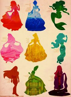 disney princesses. i would want this for a little girls room.