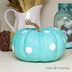 Pumpkin Crafts: Tiffany Inspired Pumpkin *LOVE* #Halloween #Fall DIY