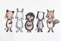 Forest friends via Stickstay. Click on the image to see more!
