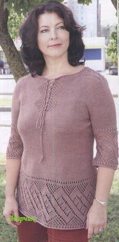 туника для полных вязание Hobbies And Crafts, Crochet, Tunic Tops, Pullover, Knitting, Sweaters, Patterns, Women, Fashion