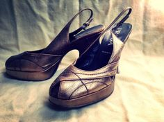 Prada bronze F/W 2000  Peep toes (SolsticeCanyon, $38.00)