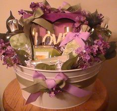 Lavender and Mint Gift Basket by Gifted Occakesions n Baskets