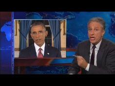 Jon Stewart Rips 'Mom-Jeans-Wearing, Socialist, Muslim, Dictator, Tyrant, Pacifist' Obama on ISIS