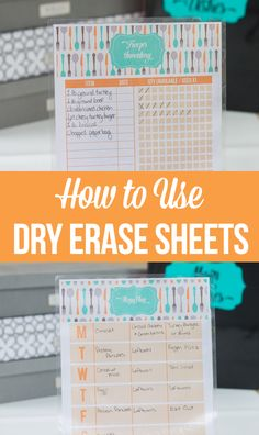 How to turn any printable into a dry erase sheet