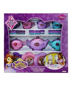 Loving this Sofia the First Royal Dinner Party Set on #zulily! #zulilyfinds