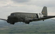 """An historic Douglas C-47 Skytrain troop transport aircraft will highlight this year's World War II Heritage Days, hosted by the Commemorative Air Force (CAF) Dixie Wing April 30-May 1, 2016. This restored plane, """"Placid Lassie,"""" participated in the D-Day invasion of Europe and was utilized in the Market Garden operation in Holland. Ground tours will allow the public a close-up look at this historic aircraft."""