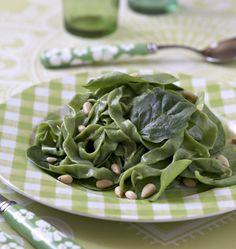 Photo de la recette : Tagliatelles aux épinards