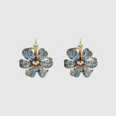 GUCCI Flora 18k gold earrings with sapphires $15,950 gucci.com