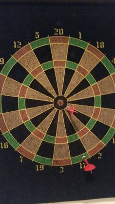 Playing darts backwards(true story)totaly nailed it!