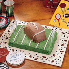 football and field cake