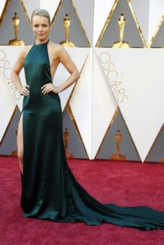 Rachel McAdams in the red carpet to end all red carpets (until the Tonys that is). Oscars 2016