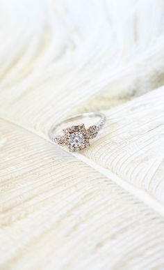 Let your heart float away with a halo ring.