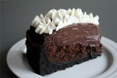 Mississippi Mud Pie: A moist, chocolatey cake layer, a thick and rich pudding layer, and a to-die-for cookie crust.