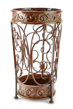 Brelso Super Quality Umbrella Stand, Umbrella Holder, Antique Look Metal, Entry Hallway Dcor, Round Style, w/...