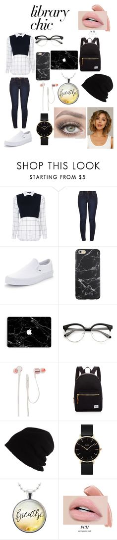 """fashion nerd"" by lachiconfleek ❤ liked on Polyvore featuring Alice + Olivia, Dorothy Perkins, Vans, JBL, Herschel Supply Co., SCHA, CLUSE and Fantasia"