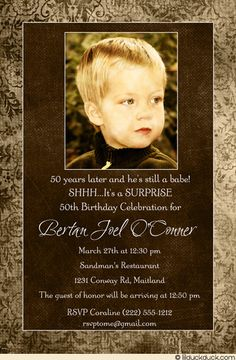 Free Template 50th Birthday Party Invitations For Men | Al's Bday ...