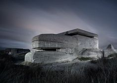These remind me of something out of battlestar galactica! Dutch photographer Jonathan Andrew, who lives in Amsterdam, produced a remarkable series of night shots of abandoned Word War 2 bunkers around Netherlands, Belgium and France.