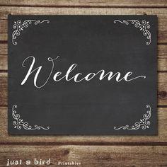 Chalkboard Welcome Sign, Chalkboard wall art, Entryway wall art, Welcome Chalkboard Home Decor, Housewarming gift, Instant Download