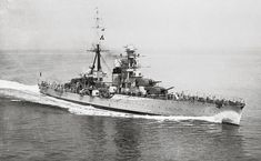 RMN Fiume Italian Navy Heavy Cruiser, 1931.