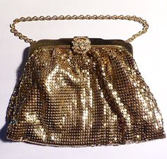 Vintage WHITING & DAVIS MESH  bag / purse antique bags and purses bridesmaids gifts golden wedding / 50th anniversary presents for her