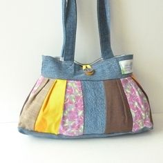 Cute (!!!) Purse Denim Bag Pleated Purse Fabric