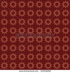 Seamless pattern of eight-pointed stars on a dark red background.