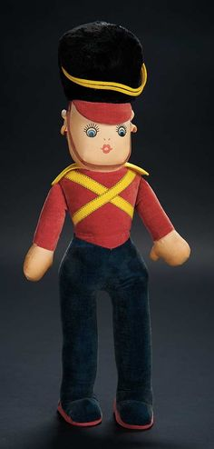 "Love, Shirley Temple, Collector's Book: Lot # 455: Velvet-Bodied Doll Inspired by ""Brother Rat"" Film with Keywind Music Box"