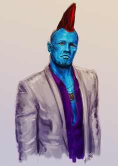 """cannibalisticwhistler: """"// Confession: I really enjoy drawing Yondu in a suit. """""""