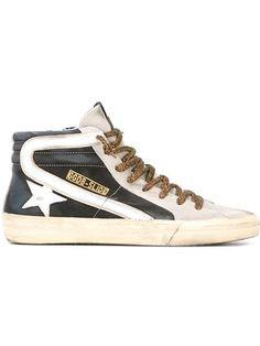 GOLDEN GOOSE 'Slide' Hi-Top Sneakers. #goldengoose #shoes #sneakers