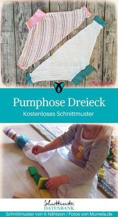 Pumphose Dreieck Sewing for Kids: Free Sewing Pattern for Triangle for Kids and Babies, Free Sewing For Kids, Baby Sewing, Sewing Patterns Free, Free Sewing, Sewing Clothes, Diy Clothes, Sewing Hacks, Sewing Tutorials, Sewing Tips