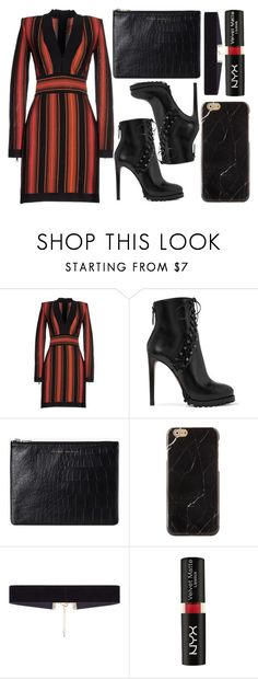 """""""street style"""" by sisaez ❤ liked on Polyvore featuring Balmain, Alaïa, Status Anxiety, 8 Other Reasons and NYX"""