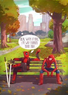 Deadpool vs Spider-Man | #comics #marvel my 1st favourite spider man gets owned by my 2nd favourite Deadpool