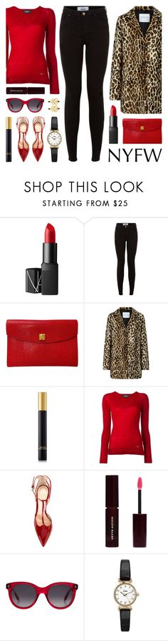 """NYFW: Street Style"" by lgb321 ❤ liked on Polyvore featuring NARS Cosmetics, New Look, Hermès, Velvet, Tom Ford, Dsquared2, Gianvito Rossi, Kevyn Aucoin, Alexander McQueen and Topshop"