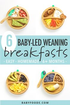 6 Baby-Led Weaning Breakfast Ideas (Easy to Make!) - Baby Foode, ideas 6 Baby-Led Weaning Breakfast Ideas (Easy to Make!) - Baby Foode,graphic for post - 4 pictures. Baby Led Weaning Breakfast, Baby Led Weaning First Foods, Baby Breakfast, Baby First Foods, Baby Weaning, Baby Finger Foods, Baby Led Weaning Recipes 6 Months, Blw Breakfast Ideas, Baby Led Weaning Lunch Ideas