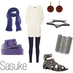 """""""Sasuke"""" by ja-vy on Polyvore. GOODWILL, I BEG YOU. PLEASE HAVE STUFF THAT MATCHES THIS."""