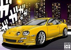 this was commissioned by @k20kid_  This is his father's car. Imagine having a dad that have this kinda car. damm must be so exciting haha.  I like yellow and white combo. it complements the subtle addition of lips and side skirts. Simple and clean, an age old recipe that works!  #cardrawing #carillustration #carart #cosplay #anime #itasha #jdm #illustration #drawing #otaku #drift #speedhunters #carculture #ae86 #mx5 #wrx #sti #drift #heartofotakuculture #needforspeed #celica #toyota…