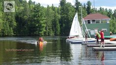 The Taylor Statten Camps is made up of Camp Ahmek for boys and Camp Wapomeo for girls. The setting is spectacular located on the shores of Canoe Lake in Algonqunin Park.  #Camp, #Lakes, #Games, #Fun,