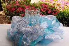 Turquoise Wedding Centerpiece. This is pretty @yukontrucker