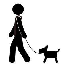 Walk Pictogram silhouette illustration