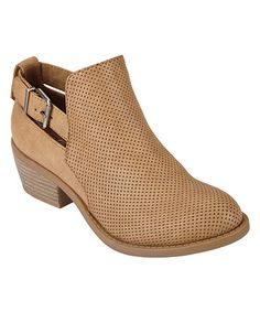 Loving this Tan Inspire Buckle Ankle Boot on #zulily! #zulilyfinds