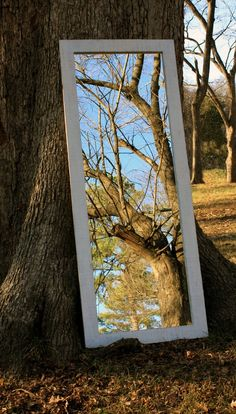 Full Length Mirror Distressed White Finish by natureinspiredcrafts, $440.00