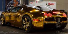 Bugatti #Gold by Metro Wrapz #luxury