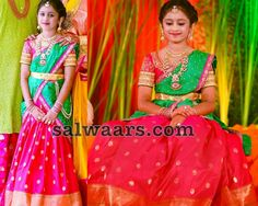 Swathi Reddy Pink Half Saree - Indian Dresses
