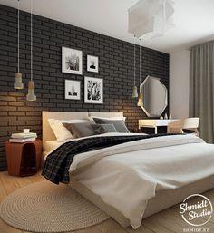 Um blog sobre coisas lindas e bem mulherzinha. Tile Bedroom, Bedroom Wall Designs, Home Bedroom, Grey Wallpaper Bedroom, Bedroom Design, Home Decor, Apartment Decor, Home Interior Design, Minimalist Home