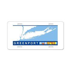Greenport - Long Island. Aluminum License Plate on CafePress.com